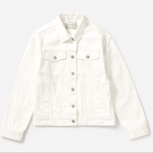 Everlane White Denim Jacket
